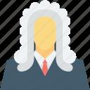 court, judge, justice, law, male judge icon