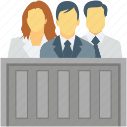court, courtroom, judge, lawyer bench icon