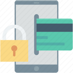 banking, lock, mobile, mobile banking security, protection icon