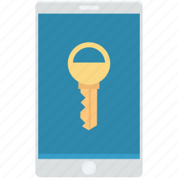 key, login access, mobile lock, mobile security, security pin icon