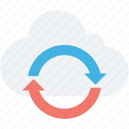 cloud loading, cloud refresh, cloud sync, sync, updating cloud icon