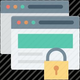 internet password, internet security, lock, web security, website icon