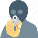 dacoit, detective, robber, spy, terrorist icon