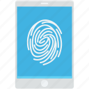 biometric app, finger scanning, fingerprint, mobile, smartphone icon