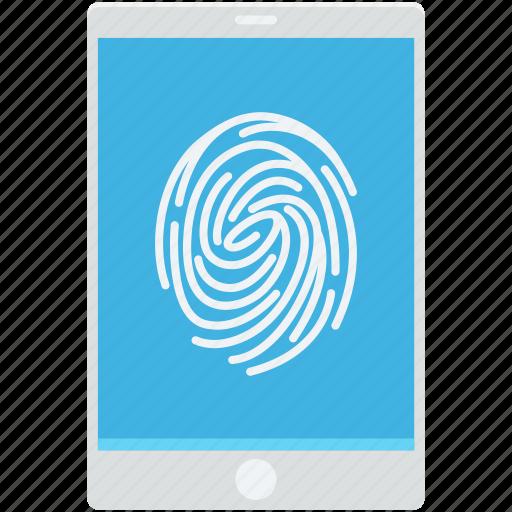 biometric app, finger scanning, fingerprint, mobile, smartphone icon