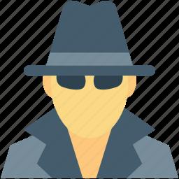detective, incognito, investigator, spy, thief icon