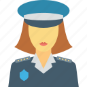 cop, female cop, lady officer, police officer, police worker icon