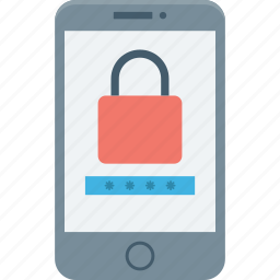 mobile, mobile lock, mobile security, padlock, security password icon