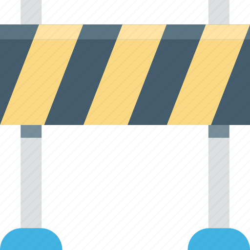barrier, police barrier, police line, road barrier, security check icon