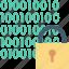 binary lock, binary numbers, digital lock, padlock, security system icon