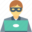 detective, hacker, hacktivist, drudge, spy icon