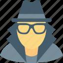 detective, incognito, robber, spy, thief