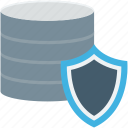 data protection, network security, secure database, server protection, server security icon