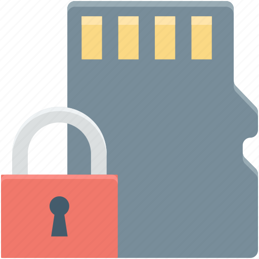 data security, lock, pen drive, usb, usb security icon