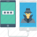 data theft, detective, hacking, incognito, spy icon