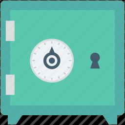 bank locker, bank safe, locker, money box, safe box icon