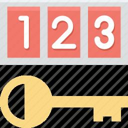 binary code, digital key, digital passcode, numeric code, passcode icon