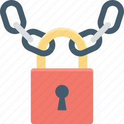chain, lock, padlock, protection, security icon