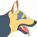 animal, dog, german shepherd, k9 dog, police dog icon