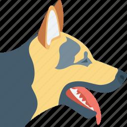 animal, dog, german shepherd, k9 dog, police dog icon