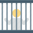 correctional facility, jail, jail cell, lock-up, prison cell icon