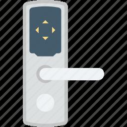 door handle, door lock, door security, doorway, keyhole icon