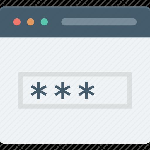 digital system, passcode, password, web login, web protection icon