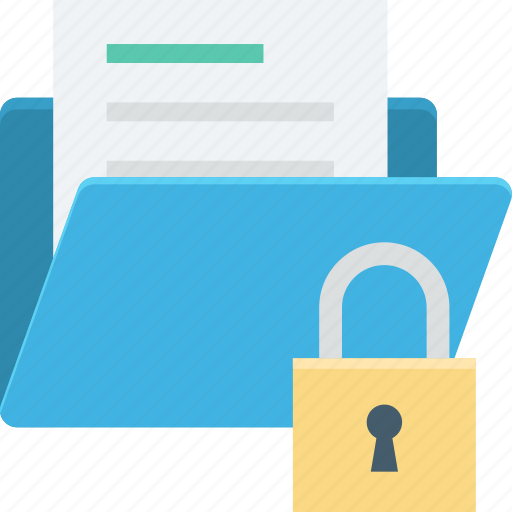 data safety, folder, folder security, locked folder, protected document icon