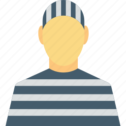 arrested, inmate, prisoner, robber, thief icon