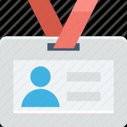 employee card, id card, identification, identity card, volunteer card icon