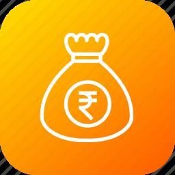 bag, crime, money, potli, theft icon