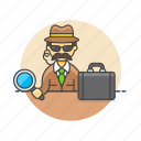 crime, detective, investigator, magnify, man, police, search, spy icon