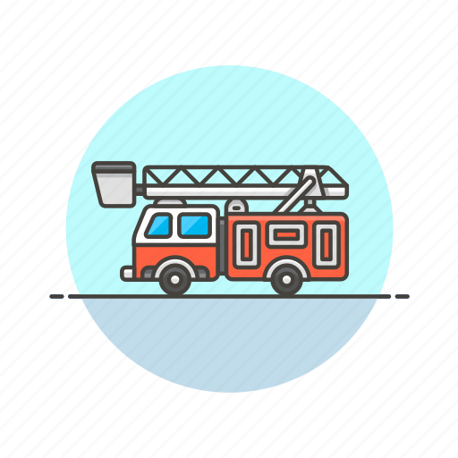 crane, crime, department, fire, help, police, truck, vehicle icon