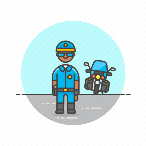 cop, crime, man, motorcycle, officer, patrol, police, vehicle icon