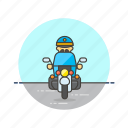 crime, motorcycle, police, man, officer, cop, patrol, vehicle