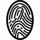 crime, finger, finger print, print icon