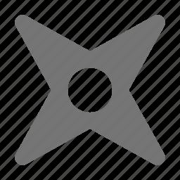 ninja star, shuriken, weapon icon
