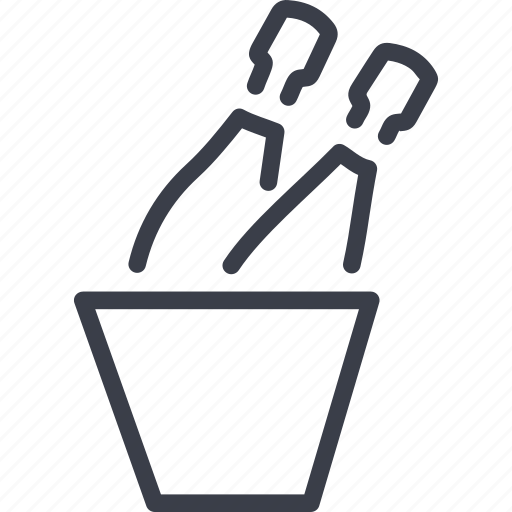 alcohol, bucket with champagne, crime, ice, spirit icon