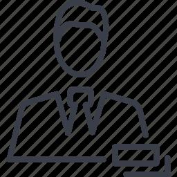avatar, crime, man, person icon