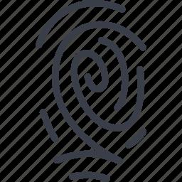 crime, mark, print, track icon