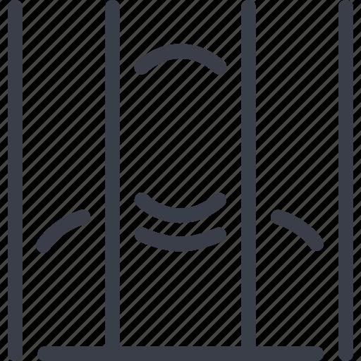 crime, prisoner, punishment icon