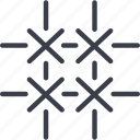 crime, fencing, lattice, security icon