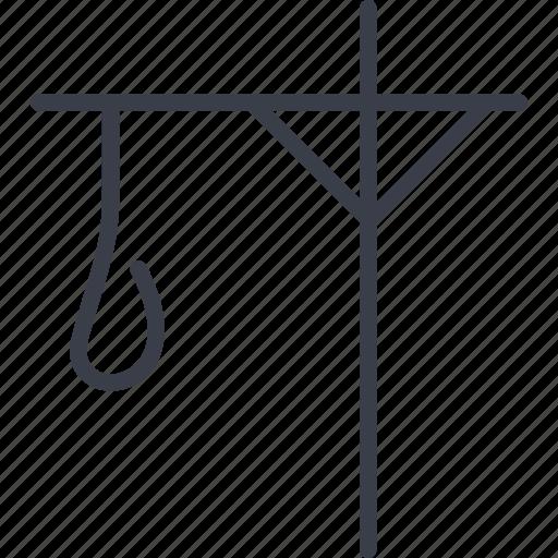 crime, execution, gallows, scaffold icon