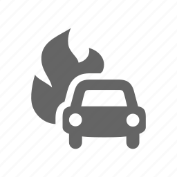 arson, car, criminal icon