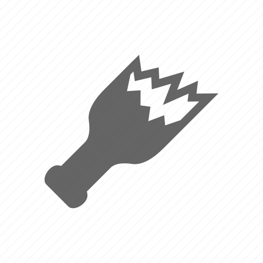 cold arms, criminal, glass, violation icon