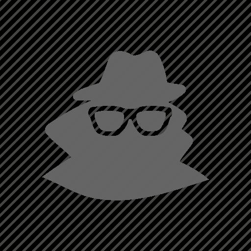crime, criminal, glass, mafia, spy, thief icon