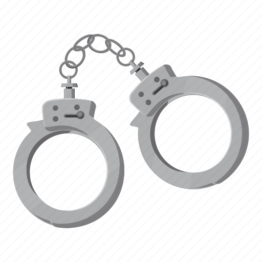 cartoon, handcuffs, jail, judgment, law, lock, police icon