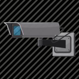 camera, cartoon, cctv, guard, monitored, security camera, video icon