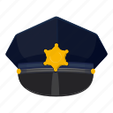 cap, cartoon, cop, hat, logo, police, police cap