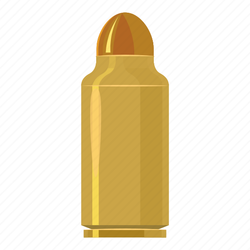 ammunition, army, bullet, capsule, cartoon, cartridge, logo icon
